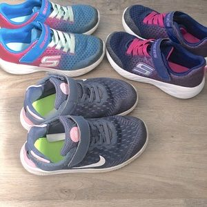 Nike Skechers girl sneakers shoes